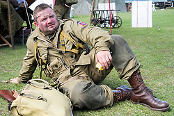 Member of the US 82nd Airborne/505th RCT living History Group Fort Paull <br /> <br />   04 May 2015<br />   Image &copy; Paul David Drabble <br />   www.pauldaviddrabble.co.uk