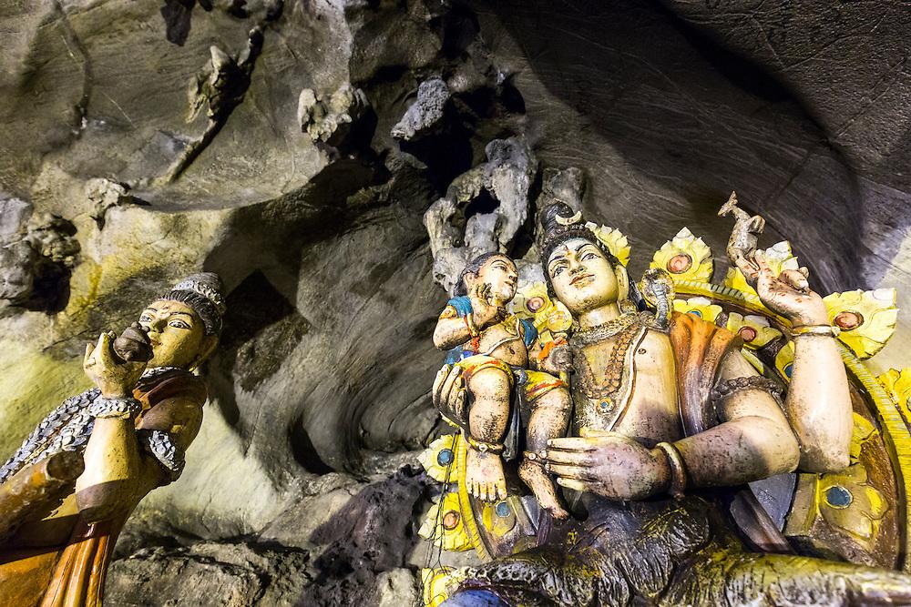 Asia, Malaysia, Kuala Lumpur, Shrine inside Batu Caves, a Tamil Hindu shrine and tourist attraction