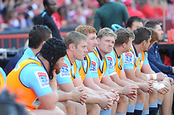 28-07-18 Emirates Airline Park, Johannesburg. Super Rugby semi-final Emirates Lions vs NSW Waratahs. 1st half. The Waratahs bench. Picture: Karen Sandison/African News Agency (ANA)