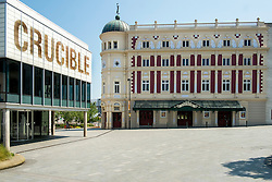 Crucible and Lyceum Theaters viewed from Norfolk Street in Sheffield<br />  05 June 2016<br />  Copyright Paul David Drabble<br />  www.pauldaviddrabble.photoshelter.com