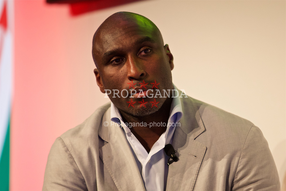 NEWPORT, WALES - Friday, May 20, 2016: Sol Campbell during the Football Association of Wales' National Coaches Conference 2016 at the Celtic Manor Resort. (Pic by David Rawcliffe/Propaganda)