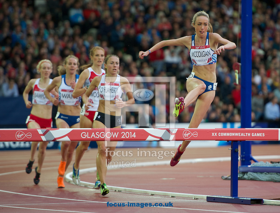 Liz McColgan Scotland competing in the Women's 3000m Steeplechase on day four of the athletics  at Hampden Park, Glasgow<br /> Picture by Alan Stanford/Focus Images Ltd +44 7915 056117<br /> 29/07/2014