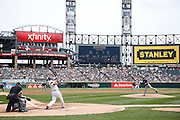 CHICAGO, IL - APRIL 28: Adam Dunn #32 of the Chicago White Sox singles off of David Price #14 of the Tampa Bay Rays during the game at U.S. Cellular Field on April 28, 2013 in Chicago, Illinois. (Photo by Joe Robbins)