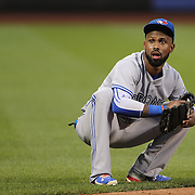Jose Reyes, Toronto Blue Jays, fielding at short stop during the New York Mets Vs Toronto Blue Jays MLB regular season baseball game at Citi Field, Queens, New York. USA. 15th June 2015. Photo Tim Clayton