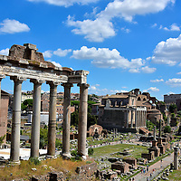 Roman Forum View From Capitoline Hill in Rome, Italy <br />