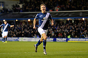 Birmingham City midfielder Maikel Kieftenbeld  celebrates goal during the Sky Bet Championship match between Birmingham City and Ipswich Town at St Andrews, Birmingham, England on 23 January 2016. Photo by Alan Franklin.
