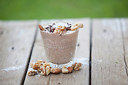 Nuts and chocolate smoothie