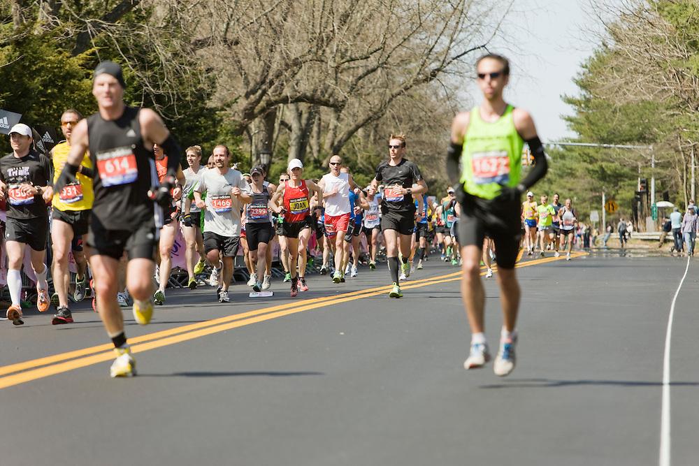 Joanie Benoit Samuelson near midpoint in race