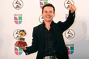 Grammy winner Fonseca poses in the press room at the 7th Annual Latin Grammy Awards at Madison Square Garden  on Thursday, November 2, 2006 in New York.