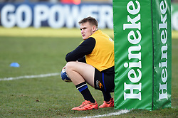 Nahum Merigan of Bath Rugby looks on during the pre-match warm-up - Mandatory byline: Patrick Khachfe/JMP - 07966 386802 - 18/01/2020 - RUGBY UNION - Kingspan Stadium - Belfast, Northern Ireland - Ulster Rugby v Bath Rugby - Heineken Champions Cup