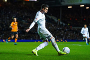 Leeds United midfielder Pablo Hernandez (19) passes the ball during the EFL Sky Bet Championship match between Leeds United and Hull City at Elland Road, Leeds, England on 10 December 2019.