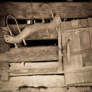 A yoke on a barn wall in the Smoky Mountains National Park.