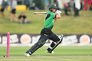 Stags Will Young batting during the Burger King Super Smash Twenty20 cricket match Knights v Stags played at Bay Oval, Mount Maunganui, New Zealand on Wednesday 27 December 2017.<br /> <br /> Copyright photo: &copy; Bruce Lim / www.photosport.nz