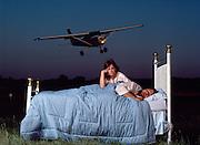 Dean Zierden snored as load as a plane overhead (About 90 decibels) until he was cured of apnea.