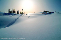 Beautiful snow field while hell-skiing in BC