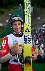 Winner Robert Kranjec during Ski Jumping Summer Continental Cup in Kranj, on July 2, 2011, in Kranj, Slovenia. (Photo by Vid Ponikvar / Sportida)