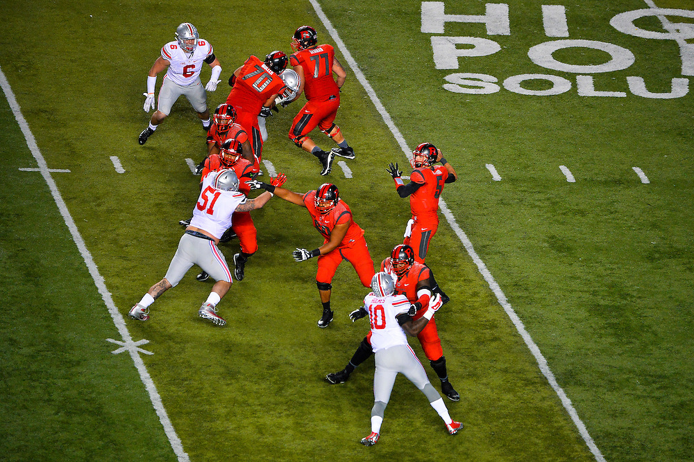 The Rutgers Scarlet Knights take on the Ohio State Buckeyes at High Point Solutions Stadium on Saturday night, October 24, 2015. <br />