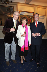 Left to right, NICHOLAS PARSONS, PAT NIMMO and JAMIE BUCHANAN at a party to celebrate the publication on 'Unsuitable' by Suzy Parsons held at St.Stephen's Club, 34 Queen Anne's Gate, London SW1 on 19th June 2008<br />