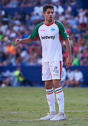 September 30, 2018 - Valencia, U.S. - VALENCIA, SPAIN - SEPTEMBER 30: Sobrino, forward of Deportivo Alaves looks during the La Liga match between Levante UD and Deportivo Alaves at Estadio Ciutat de Valencia on September 30, 2018, in Valencia, Spain. (Photo by Carlos Sanchez Martinez/Icon Sportswire) (Credit Image: © Carlos Sanchez Martinez/Icon SMI via ZUMA Press)