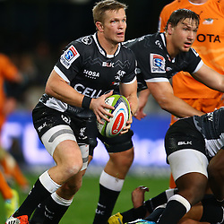 DURBAN, SOUTH AFRICA, 9,JULY, 2016 Michael Claassens of the Cell C Sharks during The Cell C Sharks vs Toyota Cheetahs  Super Rugby Match at Growthpoint Kings Park in Durban, South Africa. (Photo by Steve Haag)<br /> <br /> images for social media must have consent from Steve Haag