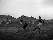 08/02/1959<br /> 02/08/1959<br /> 02 February 1959<br /> F.A.I. Intermediate Cup Final: Bray Wanderers v Albert Rovers at Rutland Avenue, Dublin.
