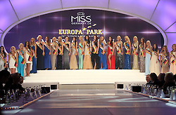 28.02.2015, Europapark Dom, Rust, GER, Miss Germany Wahl 2015, im Bild Alle Teilnehmerinnen stellen sich der Jury // during the election to Miss Germany 2015 at the Europapark Dom in Rust, Germany on 2015/02/28. EXPA Pictures © 2015, PhotoCredit: EXPA/ Eibner-Pressefoto/ BW-Foto<br /> <br /> *****ATTENTION - OUT of GER*****