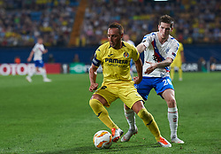September 20, 2018 - Vila-Real, Castellon, Spain - Santiago Cazorla of Villarreal CF and Ryan Kent of Rangers FC during the UEFA Europa League Group G match between Villarreal CF and Rangers FC at La Ceramica Stadium on September 20, 2018 in Vila-real, Spain. (Credit Image: © Maria Jose Segovia/NurPhoto/ZUMA Press)
