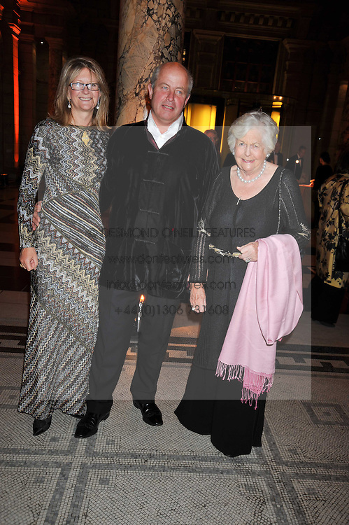 Left to right, WILL & KATE HOBHOUSE and MARY WESTON at a dinner to celebrate the opening of 'Maharaja - The Spendour of India's Royal Courts' an exhbition at the V&A, London on 6th October 2009.