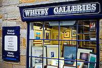 Whitby Galleries on Church Street, Whitby, selling local art