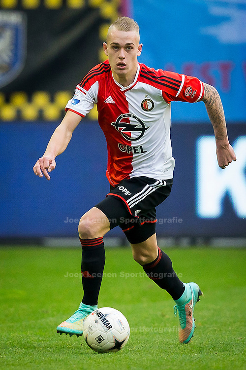 ARNHEM, Vitesse - Feyenoord, voetbal Eredivisie seizoen 2014-2015, 09-11-2014, Stadon de Gelredome, Feyenoord speler Rick Karsdorp.