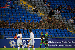 ASTANA, KAZAKHSTAN - Sunday, September 17, 2017: Kazakhstan army during the FIFA Women's World Cup 2019 Qualifying Round Group 1 match between Kazakhstan and Wales at the Astana Arena. (Pic by David Rawcliffe/Propaganda)