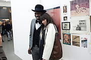 MATTHEW BARAJ; ANNABEL NEILSON, Larry Clark opening. Simon Lee Gallery. London. 9 February 2011. -DO NOT ARCHIVE-© Copyright Photograph by Dafydd Jones. 248 Clapham Rd. London SW9 0PZ. Tel 0207 820 0771. www.dafjones.com.