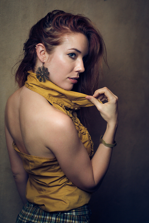 Portrait of Red Head in Yellow Top