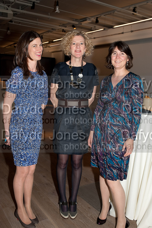 RACHEL MILLWARD; JACKIE HURT; LIZZIE BROADBENT- BIRDS EYE VIEW INTERNATIONAL WOMEN'S DAY  RECEPTION, BFI Southbank. London. 8 March 2012.