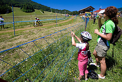 Mother and daughter at MTB Downhill European Championships, on June 14, 2009, at Kranjska Gora, Slovenia. (Photo by Vid Ponikvar / Sportida)