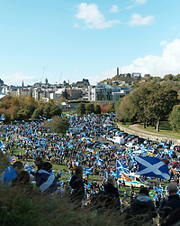 All Under One Banner Independence March, Edinburgh, Saturday 6th October 2018<br /> <br /> Pictured: Marchers on Arthur's Seat<br /> <br /> (c) Aimee Todd | Edinburgh Elite media