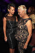 October 13, 2012- Bronx, NY: (L-R) Recording Artists Alicia Keys and Dionne Warick at the Black Girls Rock! Awards presented by BET Networks and sponsored by Chevy held at the Paradise Theater on October 13, 2012 in the Bronx, New York. BLACK GIRLS ROCK! Inc. is 501(c)3 non-profit youth empowerment and mentoring organization founded by DJ Beverly Bond, established to promote the arts for young women of color, as well as to encourage dialogue and analysis of the ways women of color are portrayed in the media. (Terrence Jennings)