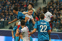 November 5, 2019, Saint-Petersburg, Russia: Russian Federation. Saint-Petersburg. Gazprom Arena. Football. UEFA Champions League. Group G. round 4. Football club Zenit - Football Club RB Leipzig. Player of Zenit football club Artem Dzyuba, Artem Dzyuba, Serdar Azmun (Credit Image: © Russian Look via ZUMA Wire)