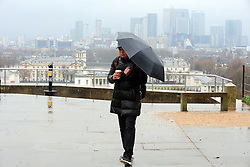 © Licensed to London News Pictures. 02/02/2017<br /> Wet and windy weather at Greenwich Park, Greenwich, London.<br /> Photo credit :Grant Falvey/LNP