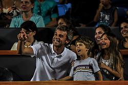 February 23, 2019 - Rio De Janeiro, Brazil - RIO DE JANEIRO, RJ - 23.02.2019: RIO OPEN 2019 - Gustavo Kuerten, GUGA, together with his family, will watch the final match between Thomaz Bellucci (BRA) / Rogerio Dutra Silva (BRA) vs. Maximo Gonzalez (ARG) / Nicolas Jarry (CHI) during Rio Open 2019 (ATP 500) Jockey Club Brasileiro in Rio de Janeiro, RJ, this Saturday (23) (Credit Image: © Nayra Halm/Fotoarena via ZUMA Press)