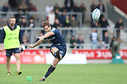 Sale Sharks AJ MacGinty during the Gallagher Premiership Rugby match between Sale Sharks and Worcester Warriors at the AJ Bell Stadium, Eccles, United Kingdom on 9 September 2018.