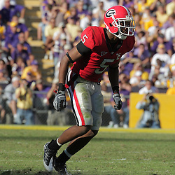 25 October 2008:  Georgia wide receiver Craig Sager (5) in action during the Georgia Bulldogs 52-38 victory over the LSU Tigers at Tiger Stadium in Baton Rouge, LA.