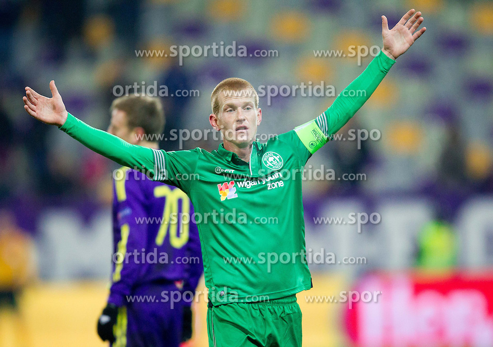 Ben Watson of Wigan Athletic during football match between NK Maribor and Wigan Athletic FC (ENG) in Round 6 of Group D of UEFA Europa League 2014, on December 12, 2013 in Stadion Ljudski vrt, Maribor, Slovenia. Maribor won against Wigan 2-1 and qualified to next Stage. Photo by Vid Ponikvar / Sportida