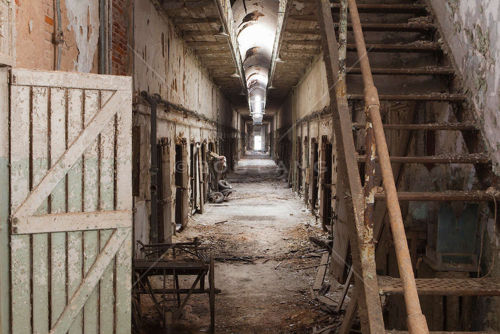 hallway in The Eastern State Penitentiary in Philadelphia, PA