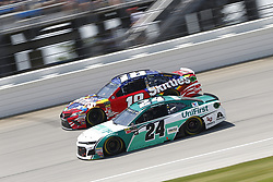 July 1, 2018 - Joliet, Illinois, United States of America - Kyle Busch (18) battles for position during the Overton's 400 at Chicagoland Speedway in Joliet, Illinois  (Credit Image: © Justin R. Noe Asp Inc/ASP via ZUMA Wire)