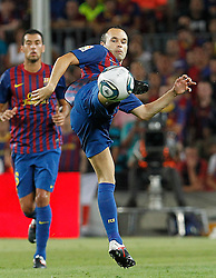 17.08.2011, Camp Nou, Barcelona, ESP, Supercup 2011, FC Barcelona vs Real Madrid, im Bild FC Barcelona's Andres Iniesta during Spanish Supercup 2nd match.August 17,2011. EXPA Pictures © 2011, PhotoCredit: EXPA/ Alterphotos/ Acero +++++ ATTENTION - OUT OF SPAIN / ESP +++++