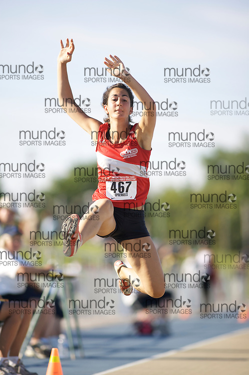 London, Ontario ---05/07/08--- Tiffany S. Sprenkels competes at the 2008 Canadian Track and Field Championships in Windsor, Ontario.GEOFF ROBINS/ Mundo Sport Images
