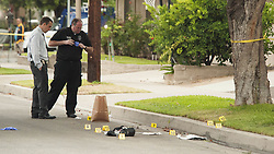August 21, 2017 - Orange, CA, USA - Orange police were investigating a shooting that turned deadly in Orange, CA early Monday morning, August 21, 2017. (Credit Image: © Ken Steinhardt/The Orange County Register via ZUMA Wire)