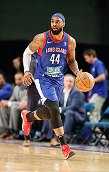November 19, 2017 - Reno, Nevada, U.S - Long Island Nets Forward JJ MOORE (44) during the NBA G-League Basketball game between the Reno Bighorns and the Long Island Nets at the Reno Events Center in Reno, Nevada. (Credit Image: © Jeff Mulvihill via ZUMA Wire)