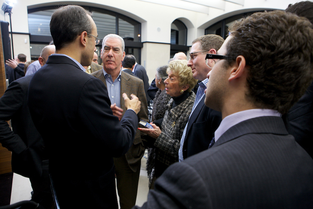 Dan Senor, co-author of Start Up Nation, speaks at a Federation CJA event in Montreal, Quebec on October 18th, 2011